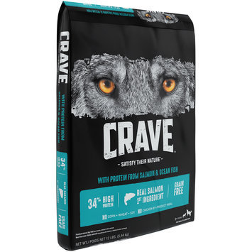 Crave™ with Protein from Salmon & Ocean Fish 1+ Years Premium Dog Food 12 lb. Bag