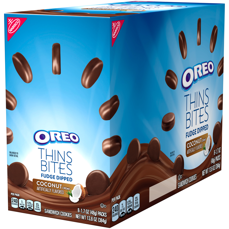 Nabisco Oreo Thins Bites Fudge Dipped Coconut Creme