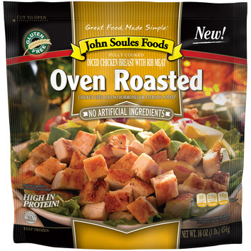 John Soules Foods® Oven Roasted Diced Chicken Breast 16 oz. Bag
