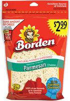 Borden® Natural Finely Shredded Parmesan Cheese $2.99 Prepriced 5 oz. Stand up Bag