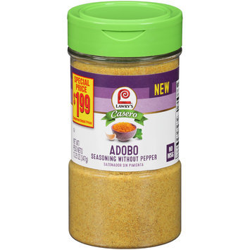 Lawry's® Casero Adobo Seasoning without Pepper 12.25 oz. Bottle