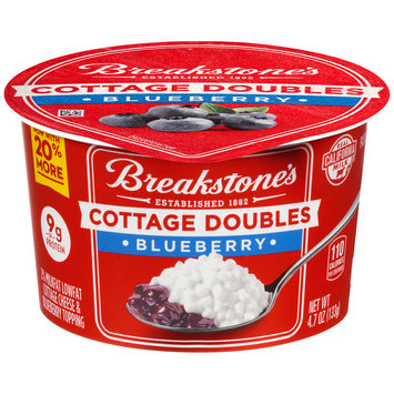 Breakstone's Cottage Doubles Cottage Cheese & Blueberry Topping 4.7 oz. Tub