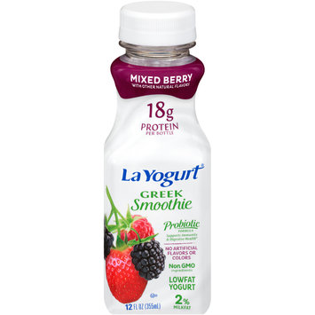 La Yogurt® Probiotic Mixed Berry Greek Smoothie Lowfat Yogurt 12 fl. oz. Bottle