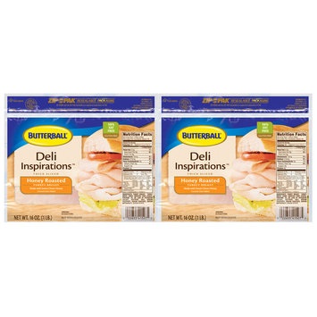 Butterball® Deli Inspirations™ Thick Sliced Honey Roasted Turkey Breast 16 oz. Package