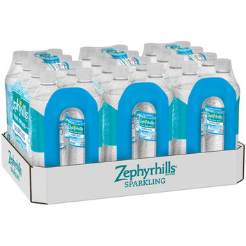 ZEPHYRHILLS Sparkling Simply Bubbles Natural Spring Water 24 ct Pack