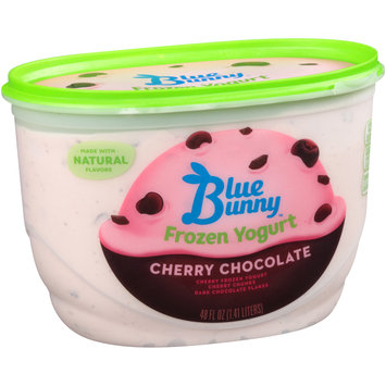 Blue Bunny Natural Frozen Yogurt Cherry Chocolate