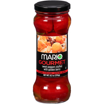 Mario® Gourmet Sweet Peppers Stuffed with Golden Berry 8.3 oz. Jar