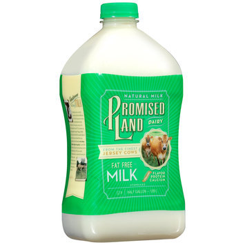 Promised Land Dairy® Fat Free Milk .5 gal. Bottle