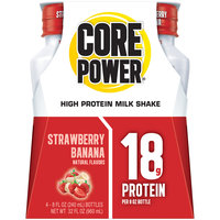 Core Power® Strawberry Banana High Protein Milkshake 4-8 fl. oz. Bottles