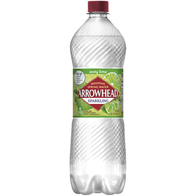 ARROWHEAD Sparkling Mountain Spring Water Lime 1L Bottle