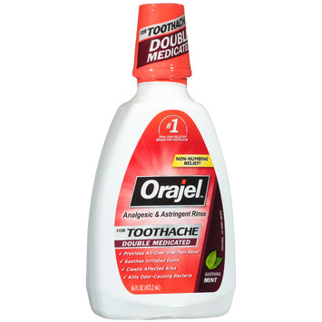 Orajel™ Soothing Mint Double Medicated Analgesic & Astringent Rinse for Toothache 16 fl. oz. Bottle