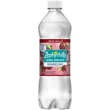 ZEPHYRHILLS Black Cherry Sparkling Natural Spring Water 20oz Bottle