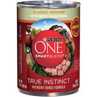 PURINA ONE® SmartBlend True Instinct Classic Ground with Real Game Bird Dog Food