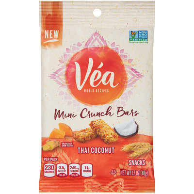 Véa Snacks Thai Coconut Mini Crunch Bars