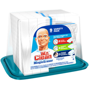 Mr. Clean® Magic Eraser Household Cleaning Pads 9 pc Plastic Container