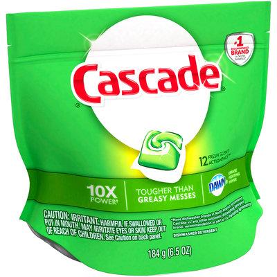 Cascade® Dawn® Fresh Scent Action Pacs™ Dishwasher Detergent 12 ct Pouch