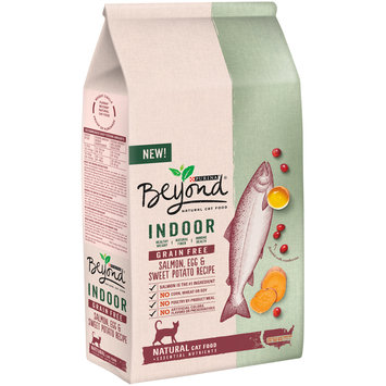 Purina Beyond Indoor Grain Free Salmon, Egg & Sweet Potato Recipe Cat Food 3 lb. Bag