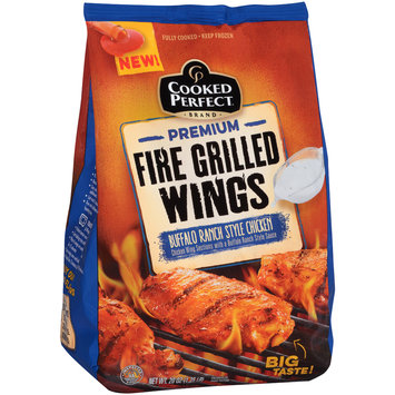 Cooked Perfect® Premium Fire Grilled Wings Buffalo Ranch Style 20 oz. Bag