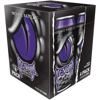 Venom Mojave Rattler Energy Drink, 16 Fl Oz Can, 4 Pack
