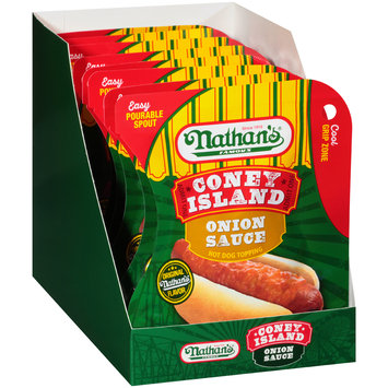Nathan's® Famous Coney Island Onion Sauce Hot Dog Topping 4.5 oz. Pouch
