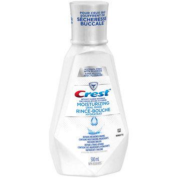 Crest® Moisturizing Oral Rinse Hydrating Mint Anticavity Fluoride Mouthwash 500mL Bottle