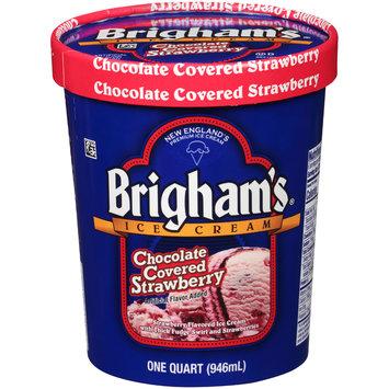 Brigham's® Chocolate Covered Strawberry Premium Ice Cream 1 qt. Carton