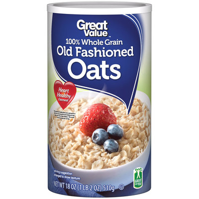 Great Value™ 100% Whole Grain Old Fashioned Oats 18 oz. Canister