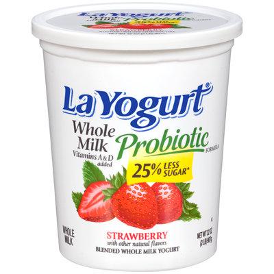 La Yogurt® Probiotic Strawberry Blended Whole Milk Yogurt 32 oz. Tub