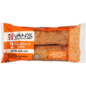 Van's Kitchen™ Grab and Go Pork Egg Rolls 5.4 oz. Package