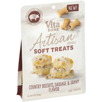 Vita Bone® Artisan Inspired® Country Biscuits, Sausage & Gravy Flavor Soft Dog Treats 8 oz. Pouch
