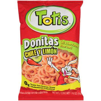 totis® donitas chili y limon flavored wheat snack