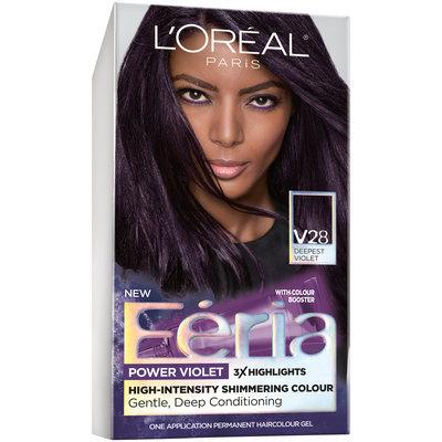 L'Oreal® Paris Feria High-Intensity Shimmering Colour Power Violet V28 Deepest Violet Hair Color 1 kt Box