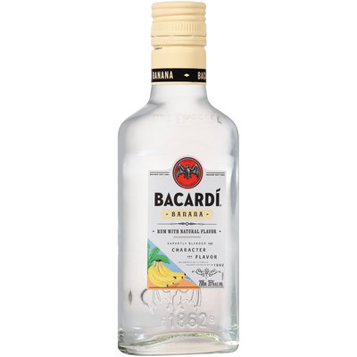 Bacardi® Banana Rum with Natural Flavor 200mL Glass Bottle