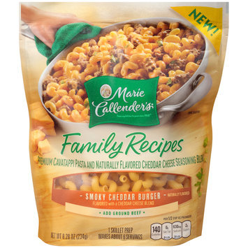 Marie Callender's® Family Recipes Smoky Cheddar Burger Pasta and Seasoning Blend Skillet Prep 8.28 oz. Bag