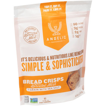 Angelic Bakehouse® 7-Grain with Sea Salt Sprouted Mash Bread Crisps 5 oz. Bag