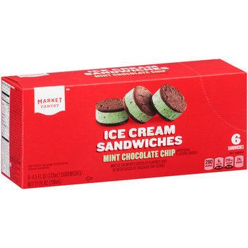 Market Pantry™ Mint Chocolate Chip Ice Cream Sandwiches 6-4.5 oz. Packs