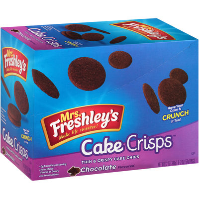 Mrs. Freshley's® Cake Crisps™ Chocolate Thin & Crispy Cake Chips 6-2 oz. Box