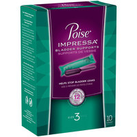 Poise Impressa Incontinence Bladder Supports Size 3 10 ct Pack