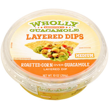 Wholly Guacamole® Layered Dips Roasted Corn Over Guacamole Layered Dip