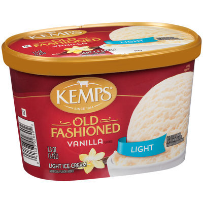 Kemps® Old Fashioned Vanilla Flavored Light Ice Cream 1.5 qt. Tub