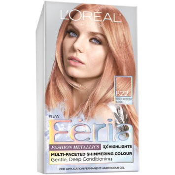 Feria Multi-Faceted Shimmering Colour Fashion Metallics 822 Medium Iridescent Blonde Hair Color 1 kt Box