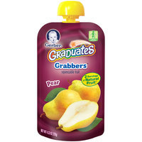 Gerber® Graduates® Pear Grabbers® Squeezable Fruit 4.23 oz. Pouch (Pack of 12)