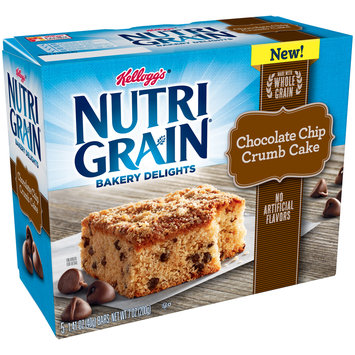 Kellogg's® Nutri Grain® Chocolate Chip Crumb Cake Bakery Delights 5 ct Box