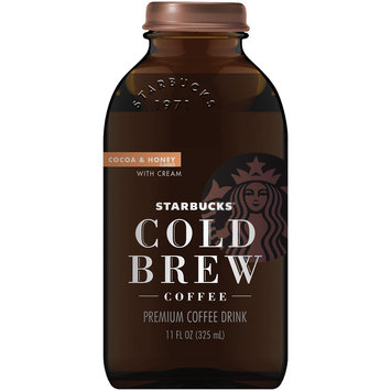 Starbucks® Cold Brew Cocoa & Honey with Cream Coffee Drink 11 fl. oz. Bottle