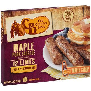CB Old Country Store® Maple Pork Sausage Links 9.6 oz. Box