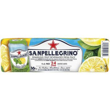 SANPELLEGRINO Sparkling Fruit Beverage, Limone e Menta/Lemon & Mint 11.15-ounce cans (Total of 24)