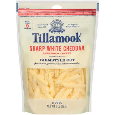 Tillamook® Farmstyle Cut Sharp White Cheddar Shredded Cheese 8 oz. Bag