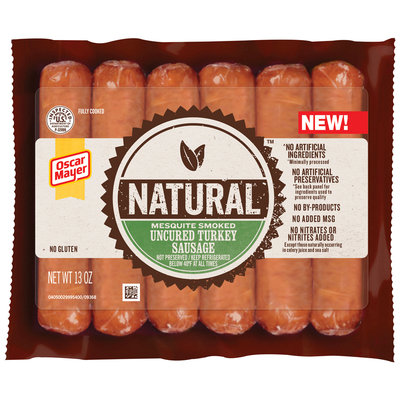 Oscar Mayer Natural Mesquite Smoked Uncured Turkey Sausage 6 ct Pack