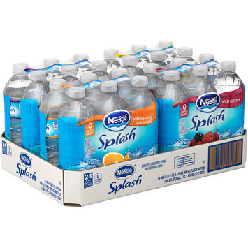 NESTLE SPLASH Water Beverages with Natural Fruit Flavors, Variety Pack 16.9-ounce plastic bottles