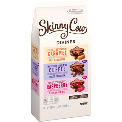 Skinny Cow Divine Filled Chocolate Caramel/Coffee/Raspberry Candy